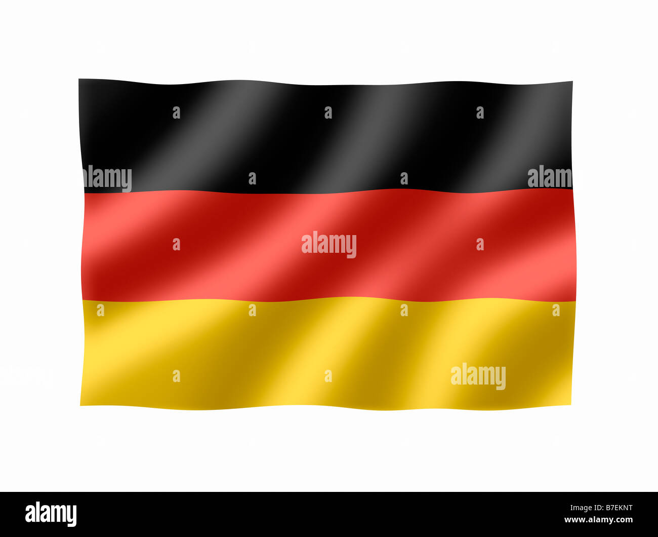 Germany German Deutschland National Flag - Stock Image