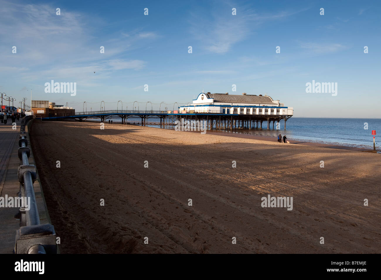 Cleethorpes pier, North Lincolnshire,Great Britain - Stock Image