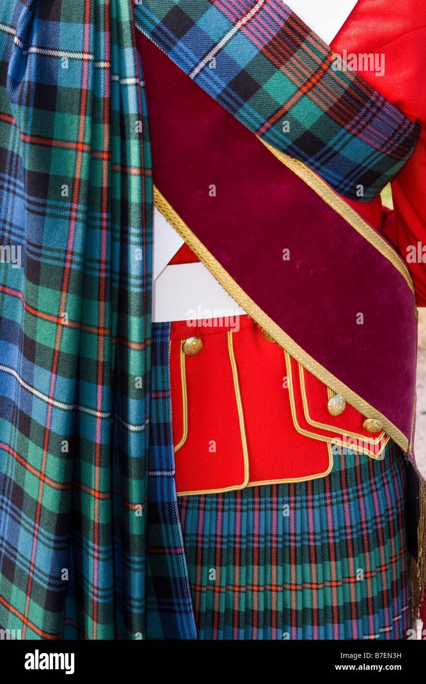 Dress Uniform, Scottish Drum Major, Highland Games, Scotland, UK - Stock Image