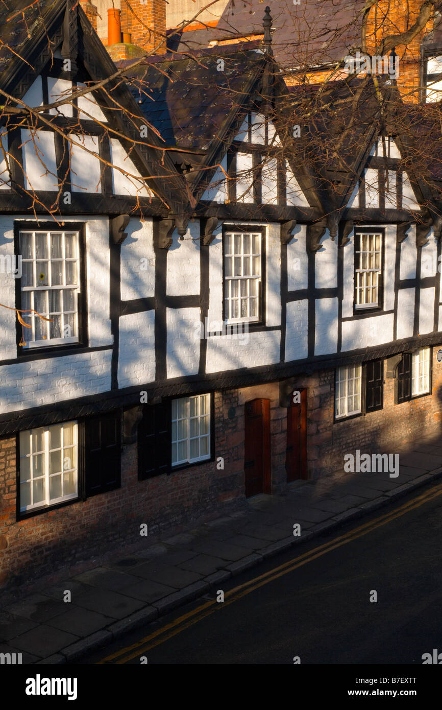 early morning sun on the nine houses - Stock Image