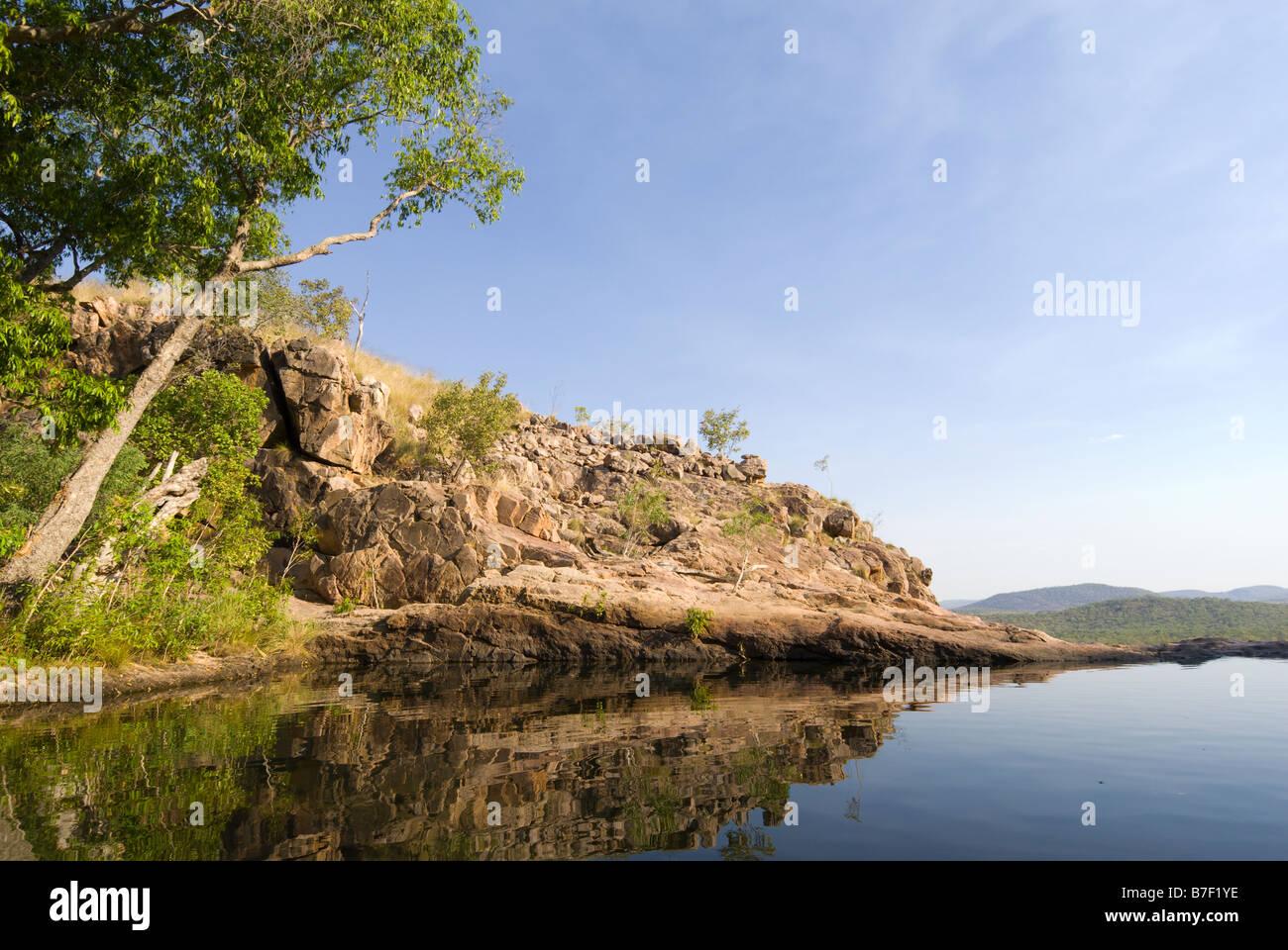 Gunlom plunge pool in Kakadu National Park - Stock Image
