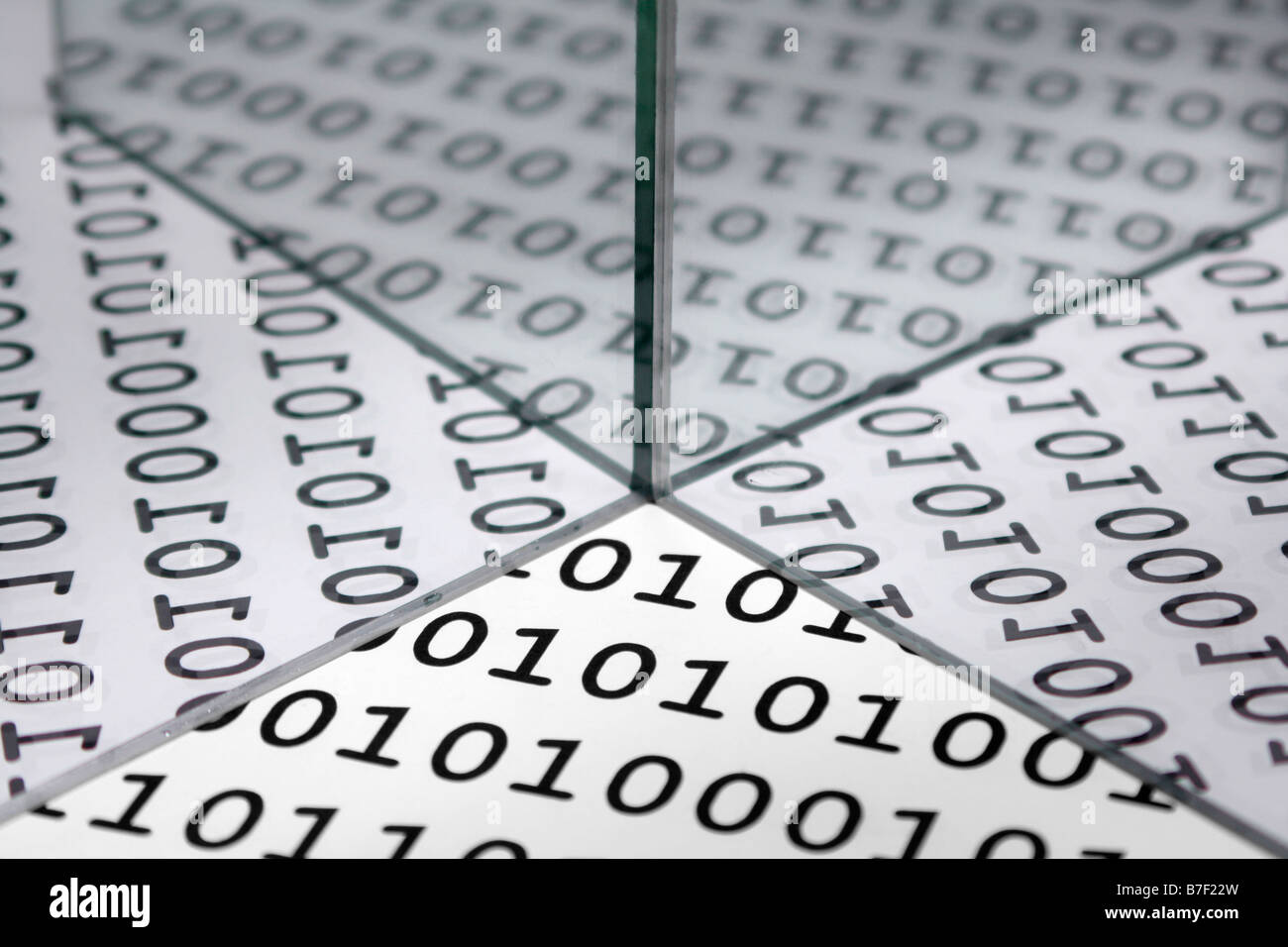 Binary background reflected - Stock Image