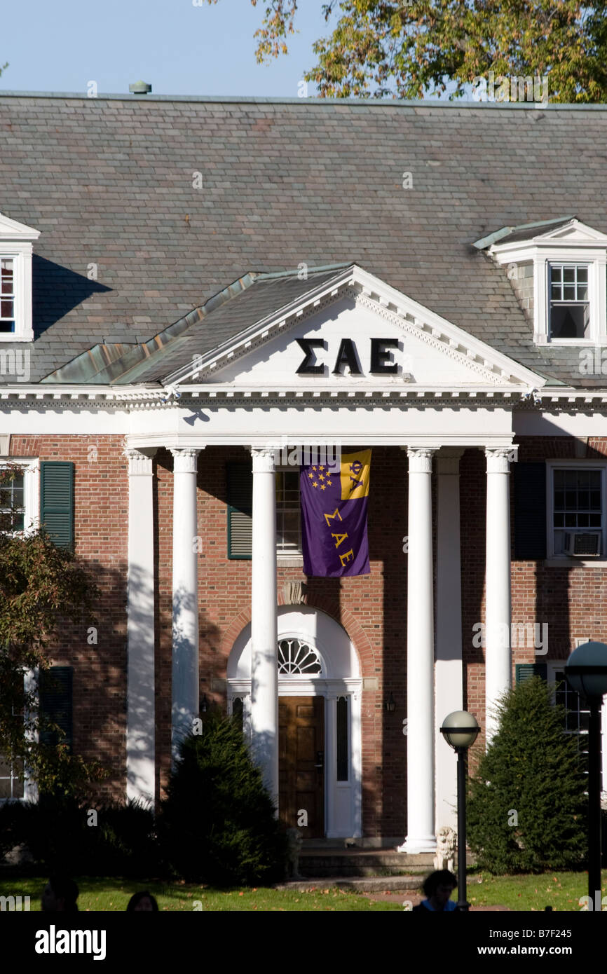 Sigma Alpha Epsilon Fraternity House at Dartmouth College Hanover NH New Hampshire New England United States of Stock Photo