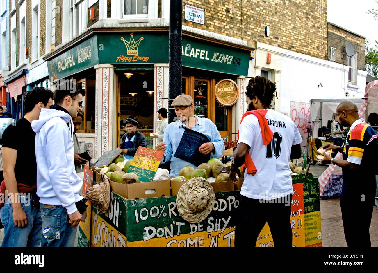 Portobello Road Market Notting Hill Greengrocer Stock Photo