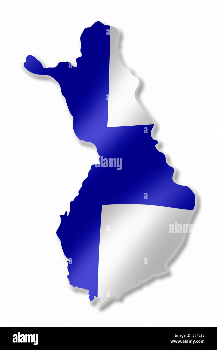 Map of europe cut out stock images pictures alamy finland country map outline with national flag inside stock image gumiabroncs Gallery