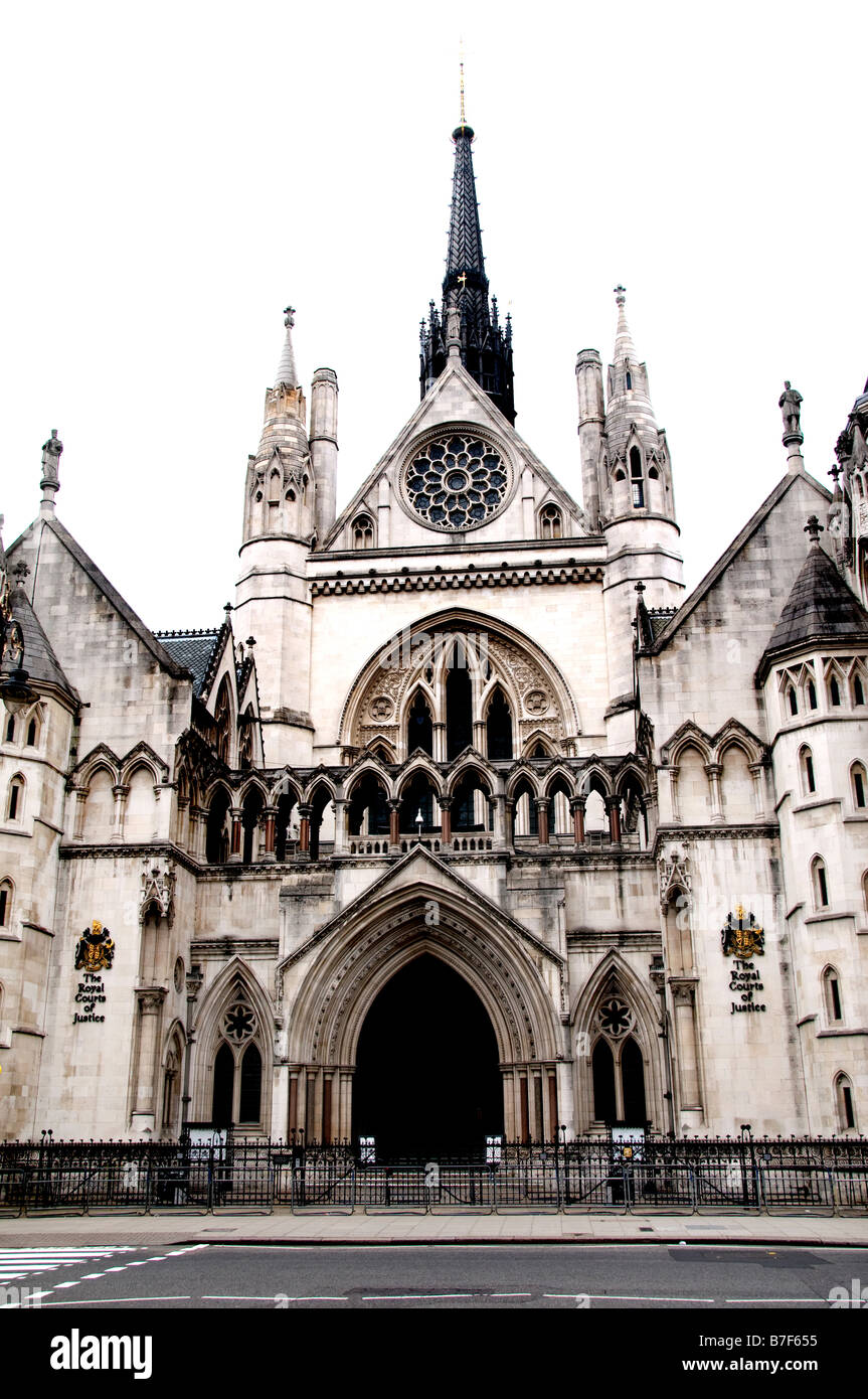 London The Royal Courts of Justice the Law England Stock Photo