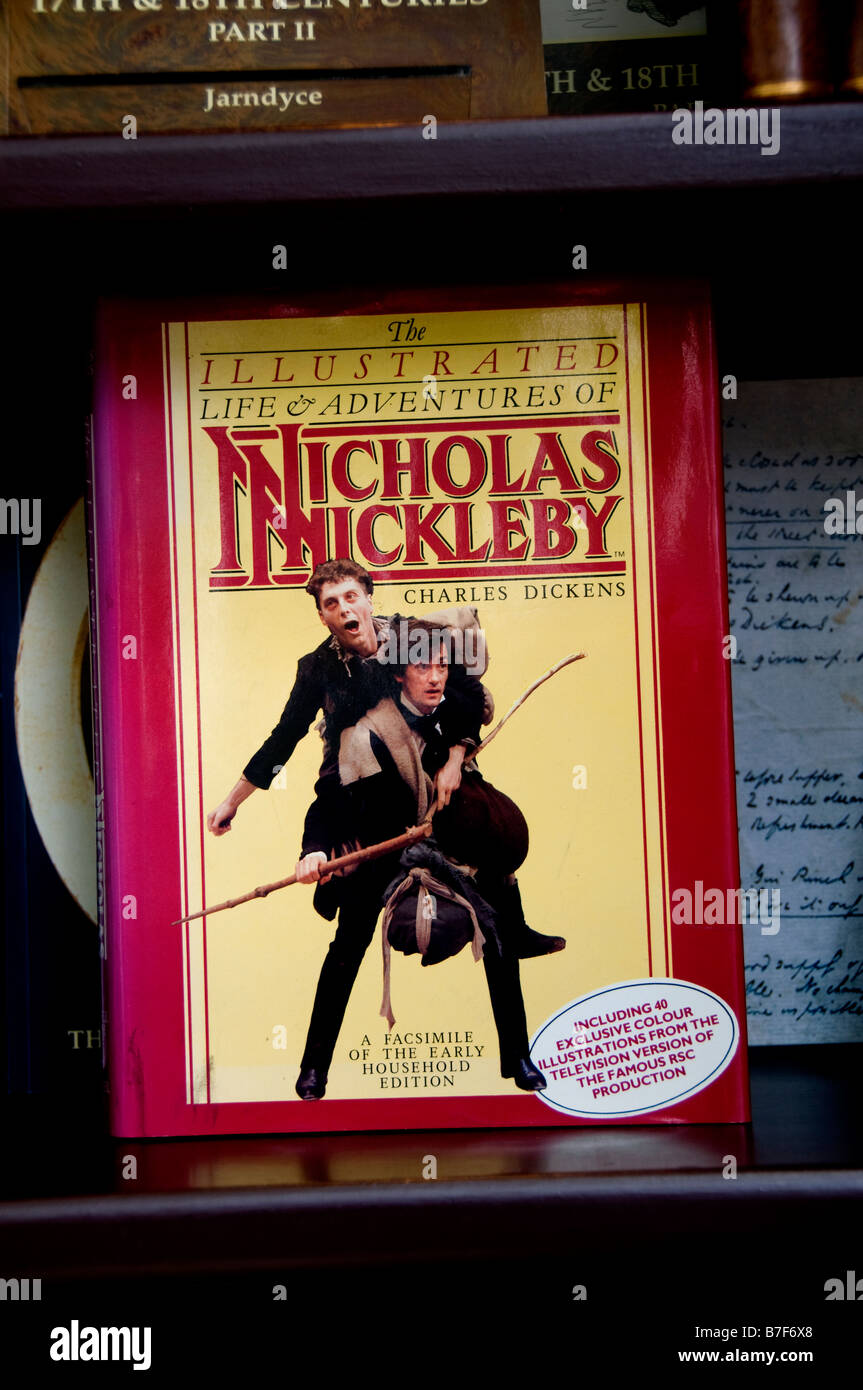Nicholas Nickleby by Charles Dickens London Jarndyce The 19th Century Booksellers - Stock Image