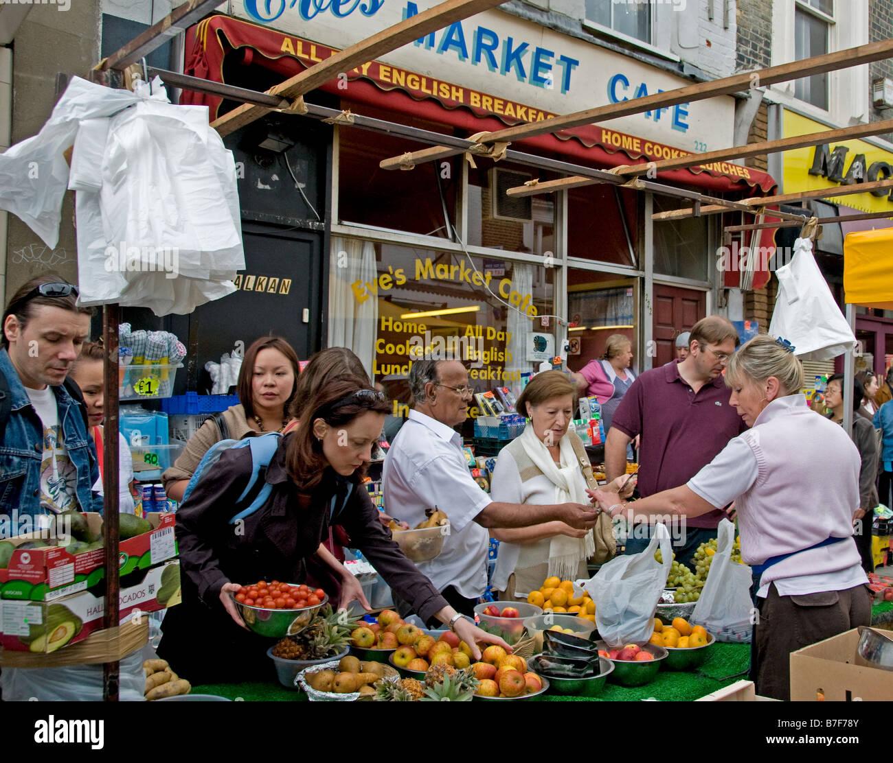Portobello Road Market Notting Hill Greengrocer - Stock Image