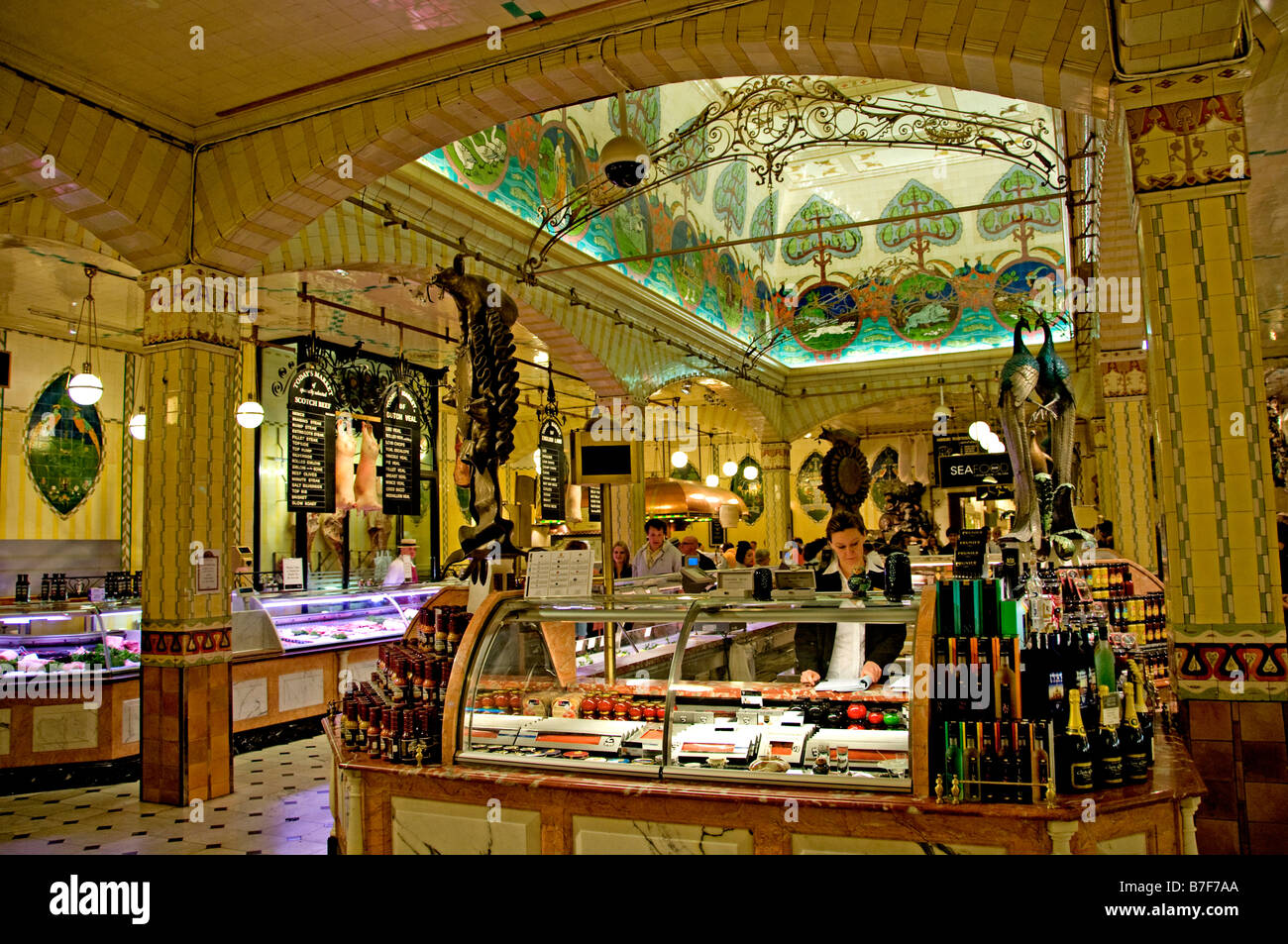 Harrods London most famous department store Knightsbridge grocery Stock Photo: 21848018 - Alamy