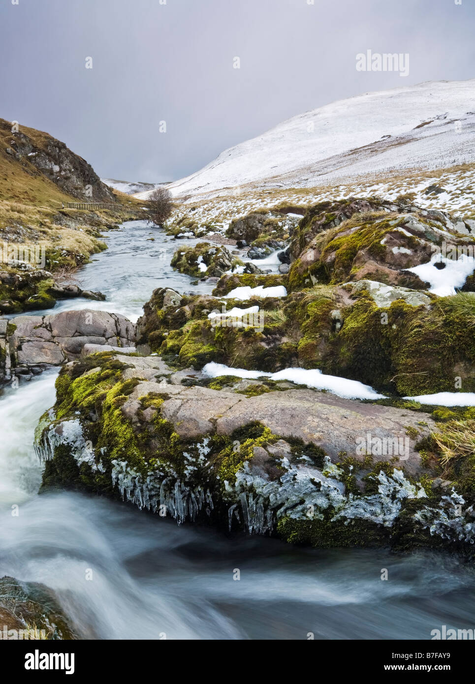 The RIver Coquet and the Coquet Valley in the southern Cheviots, Northumberland National Park, England - Stock Image
