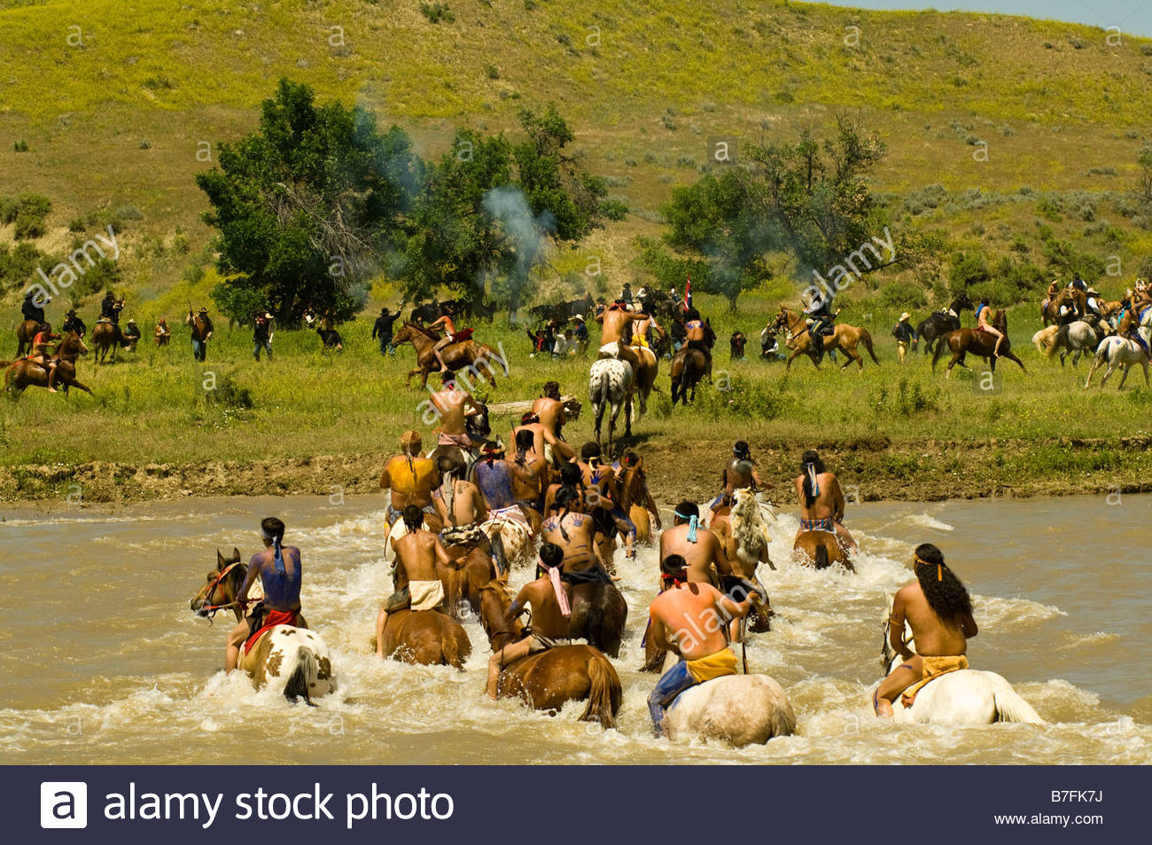 custer and the battle of little bighorn In 1876, general custer and members of several plains indian tribes, including crazy horse and chief gall, battled in eastern montana in what would become known as custer's last stand.