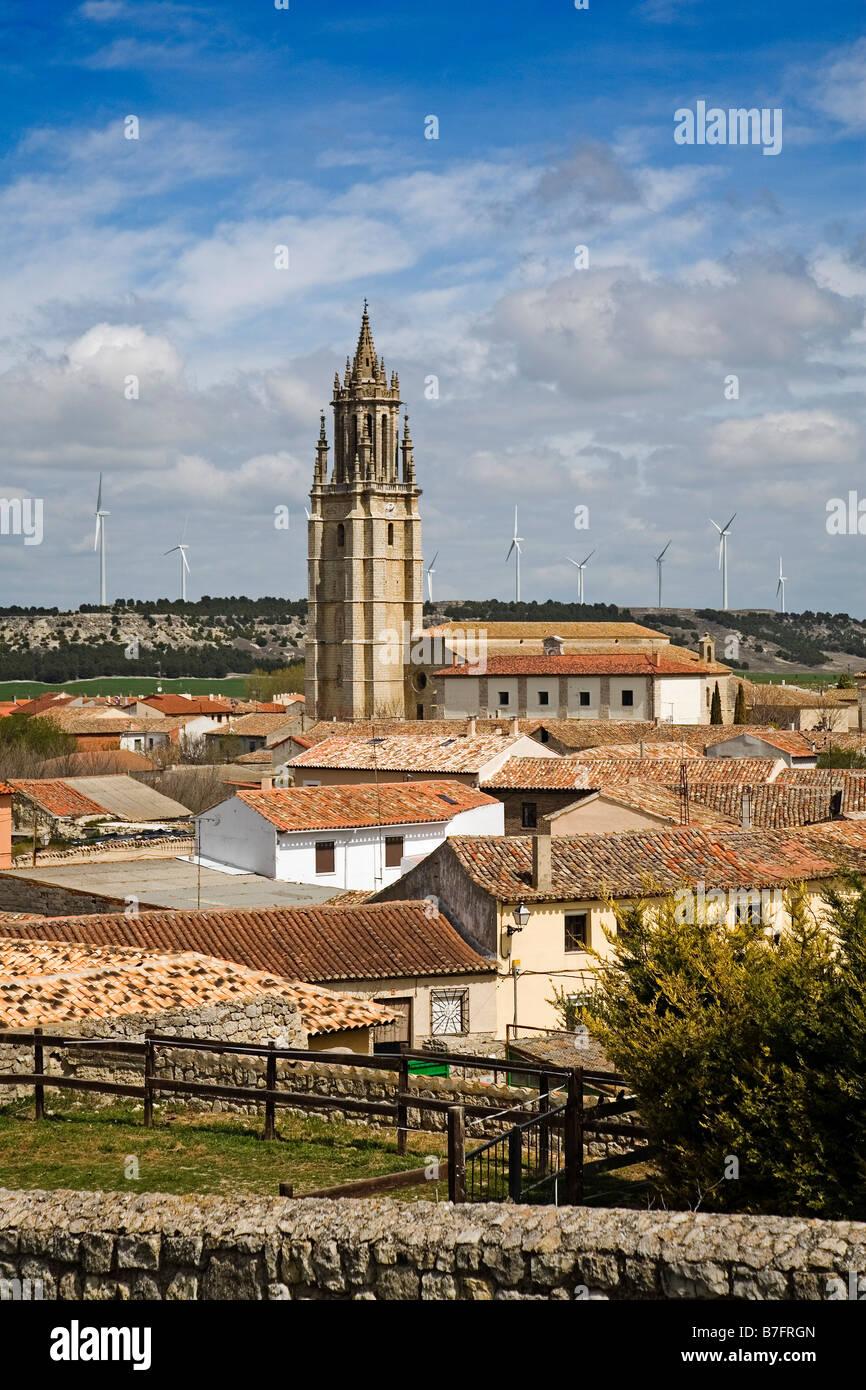 Collegiate Church of San Miguel Ampudia Palencia Castilla Leon Spain - Stock Image