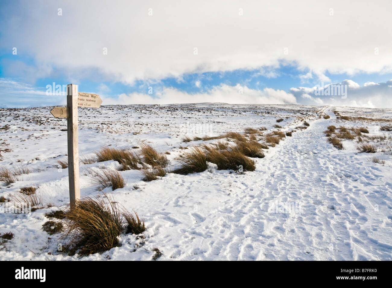 Pennine Way at the start of the section that links Tan Hill Inn with Keld in Swaledale. - Stock Image