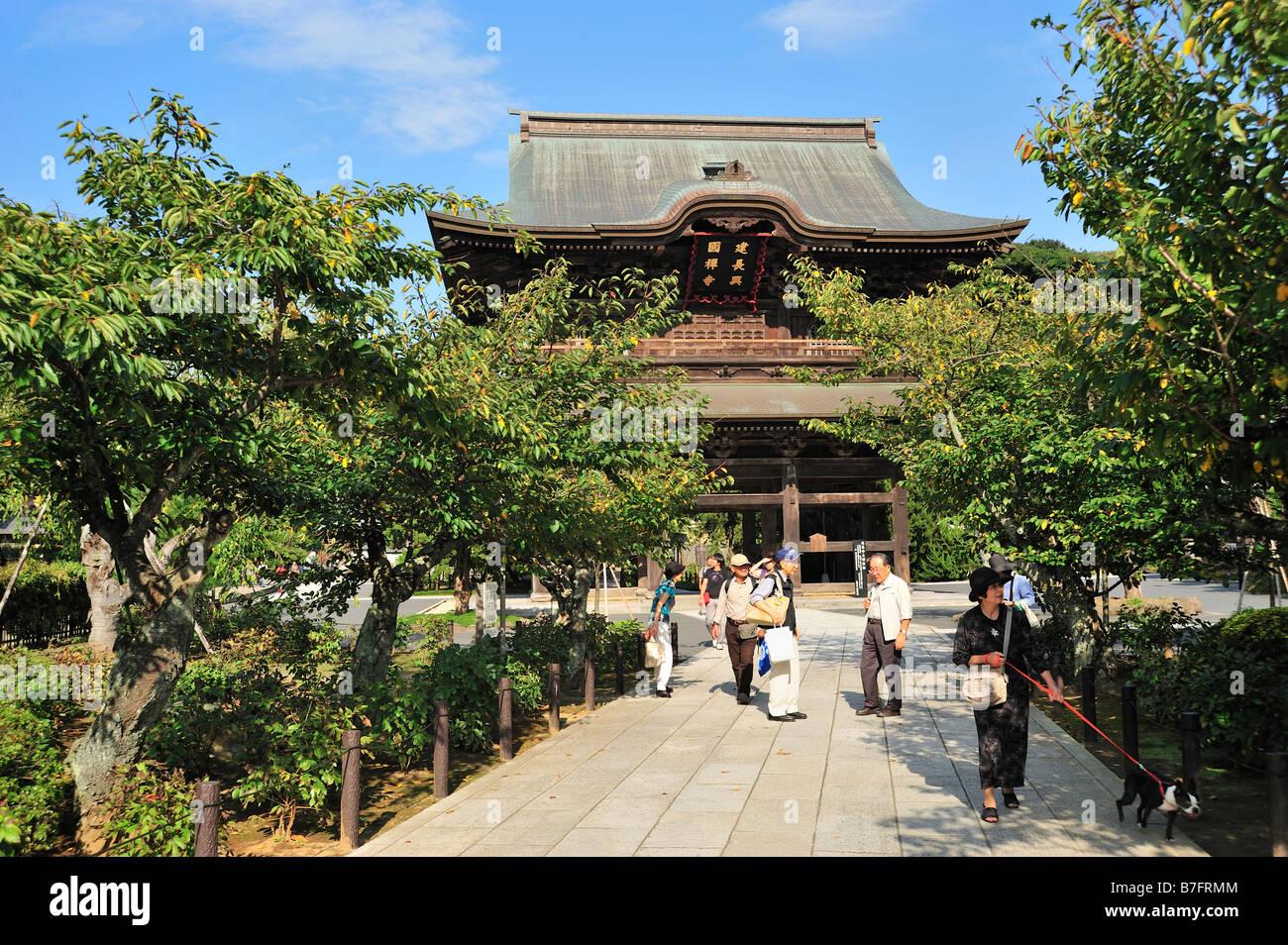 Kencho-ji, Kamakura, Kanagawa Prefecture, Japan - Stock Image