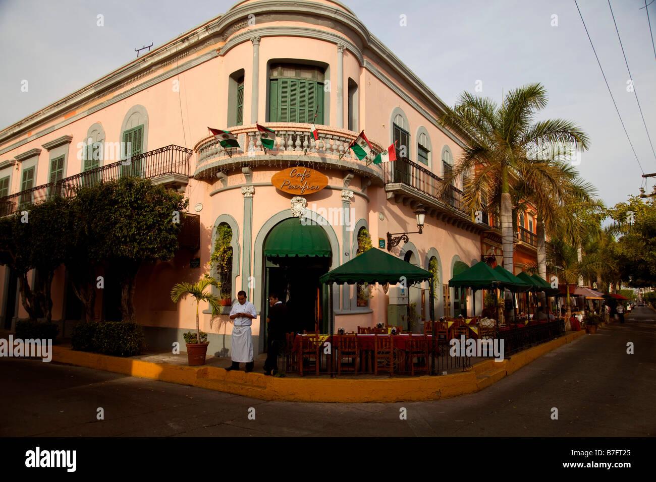 Cafe Pacifico Old Town Mazatlan Sinaloa Mexico - Stock Image