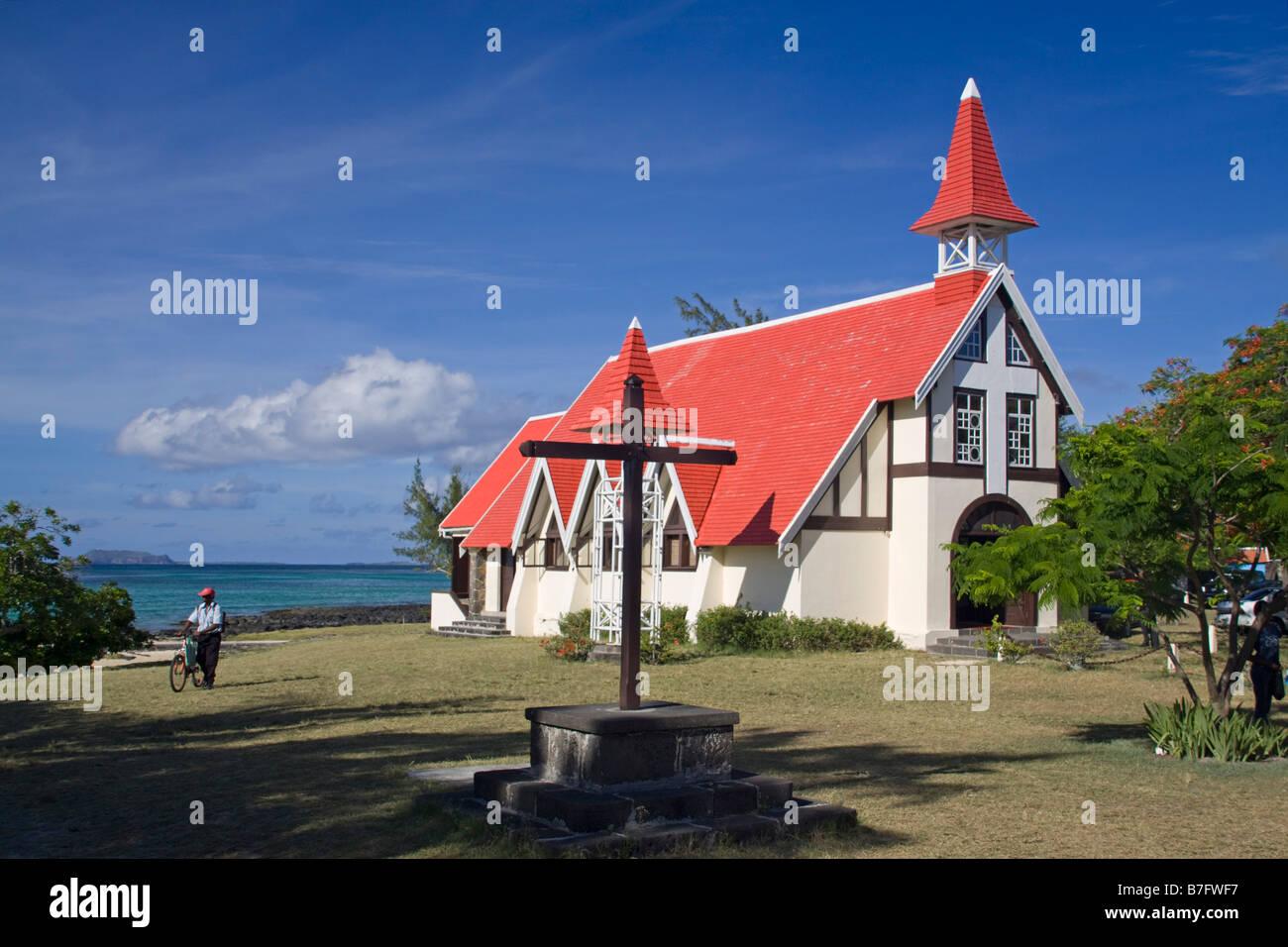 Eglise de Cap Malheureux Mauritius Africa - Stock Image
