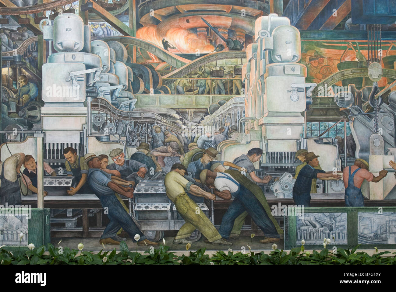 Diego Rivera Mural At The Detroit Institute Of Arts In Detroit Stock Photo Alamy