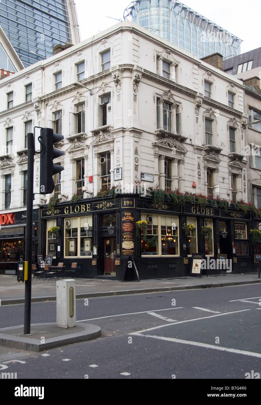 The Globe Pub, Moorgate, London Stock Photo