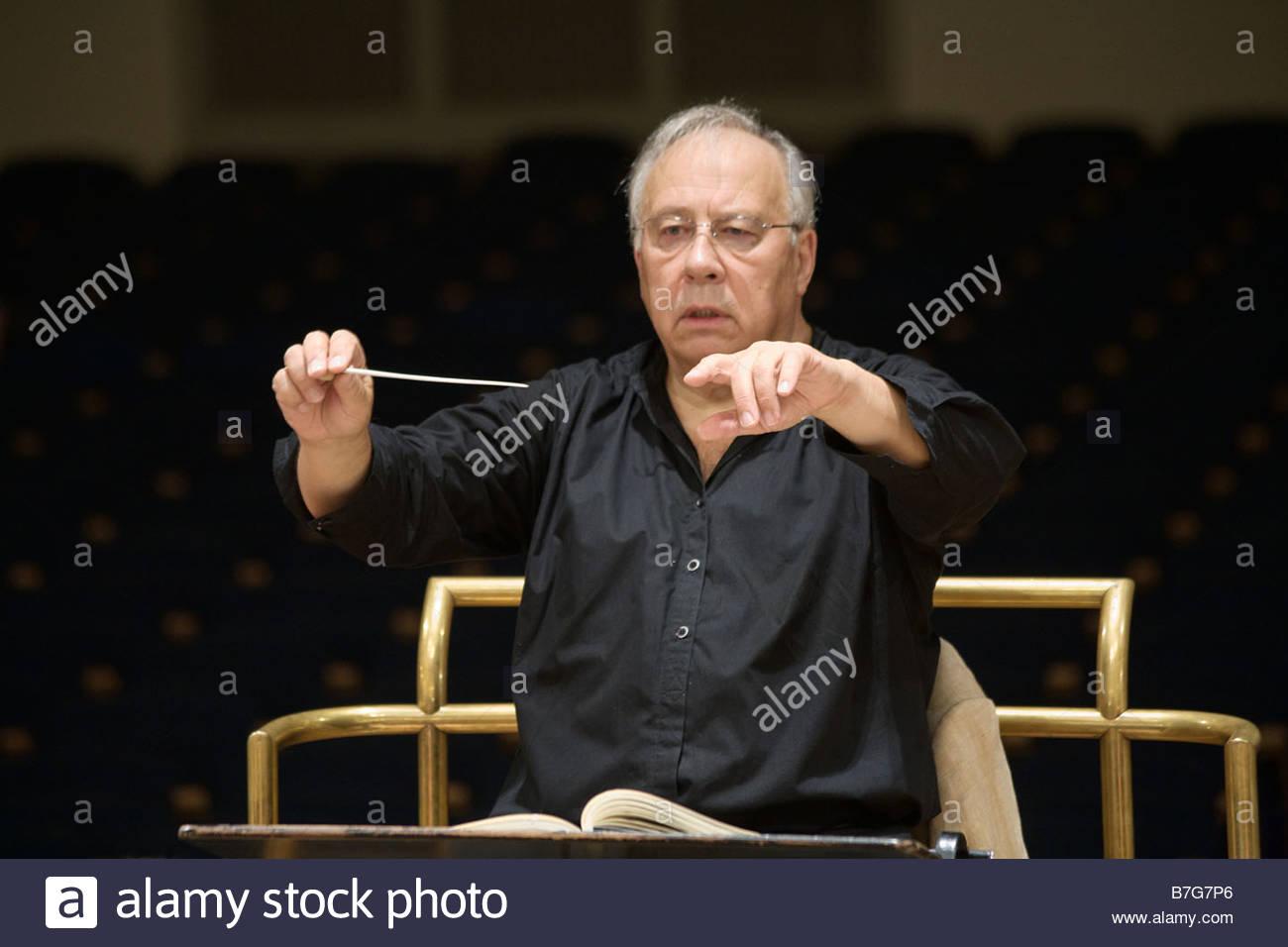 Conductor Neeme Järvi ( Jarvi ) - Stock Image