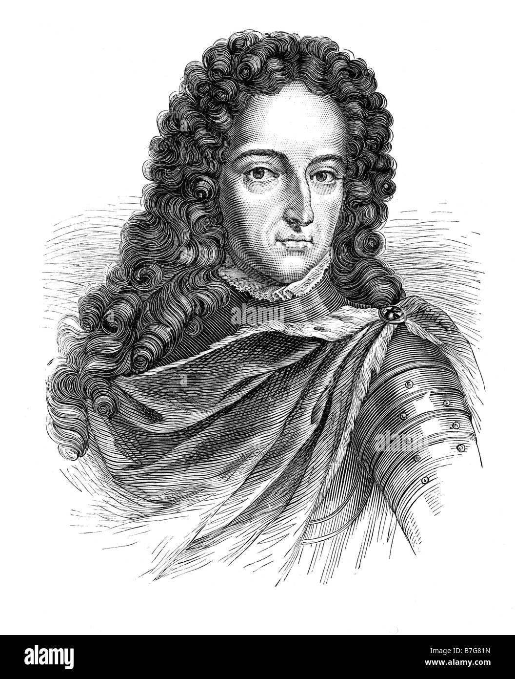 John Churchill First Duke of Marlborough 1650 to 1722 - Stock Image