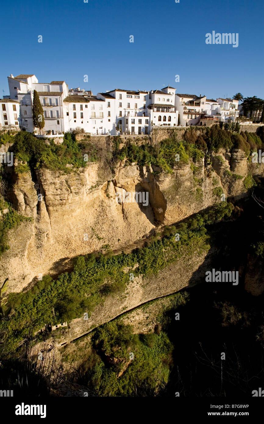 Tajo de Ronda Serrania de Ronda Malaga Andalucia España Tajo de Ronda Serrania de Ronda Malaga Andalusia Spain - Stock Image