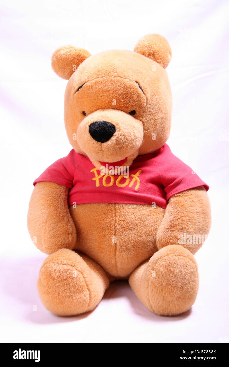 74efaff1c8e9 Winnie the Pooh teddy bear on white background Stock Photo  21873283 ...