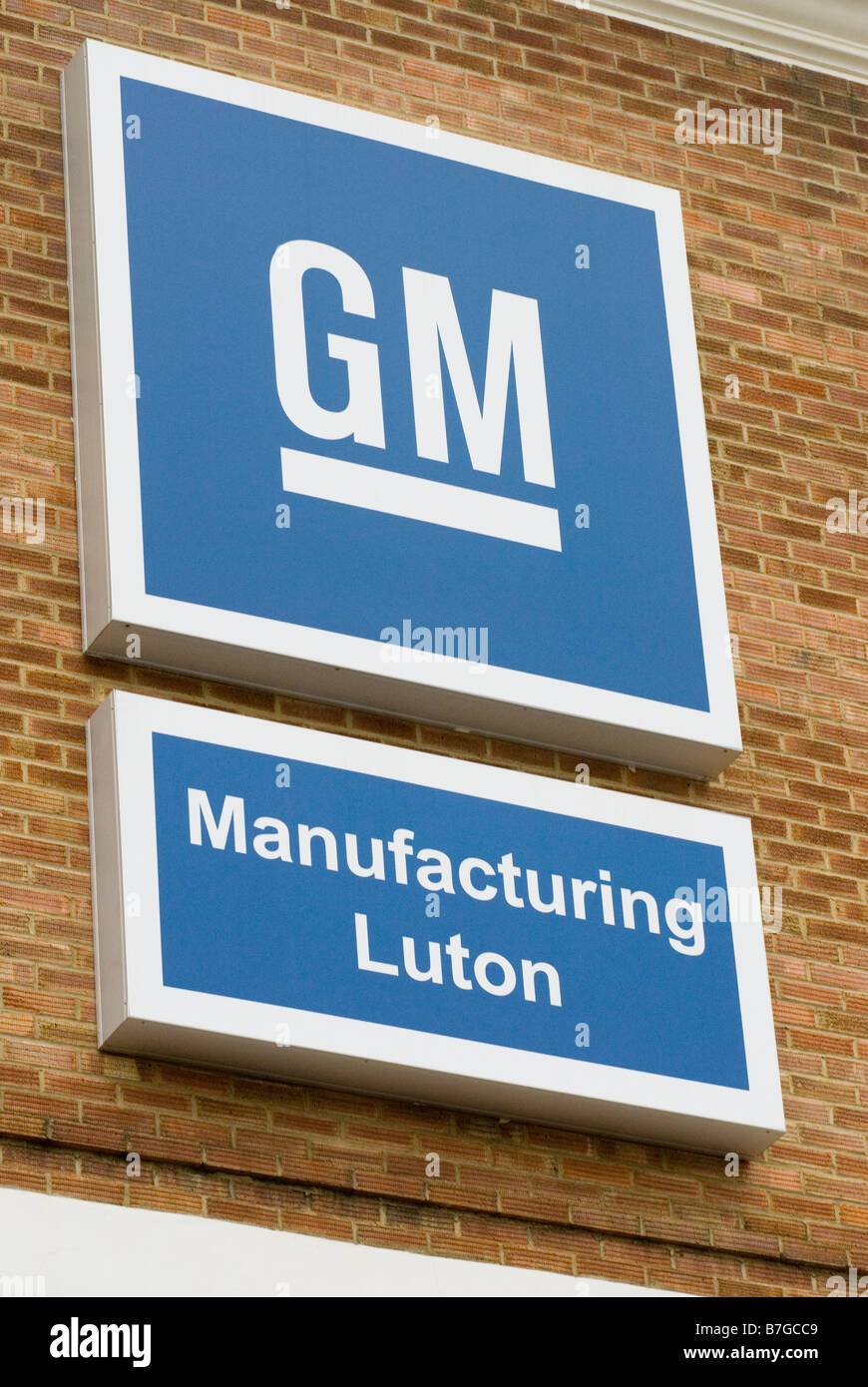 GM Vauxhall plant in Luton Bedfordshire UK - Stock Image