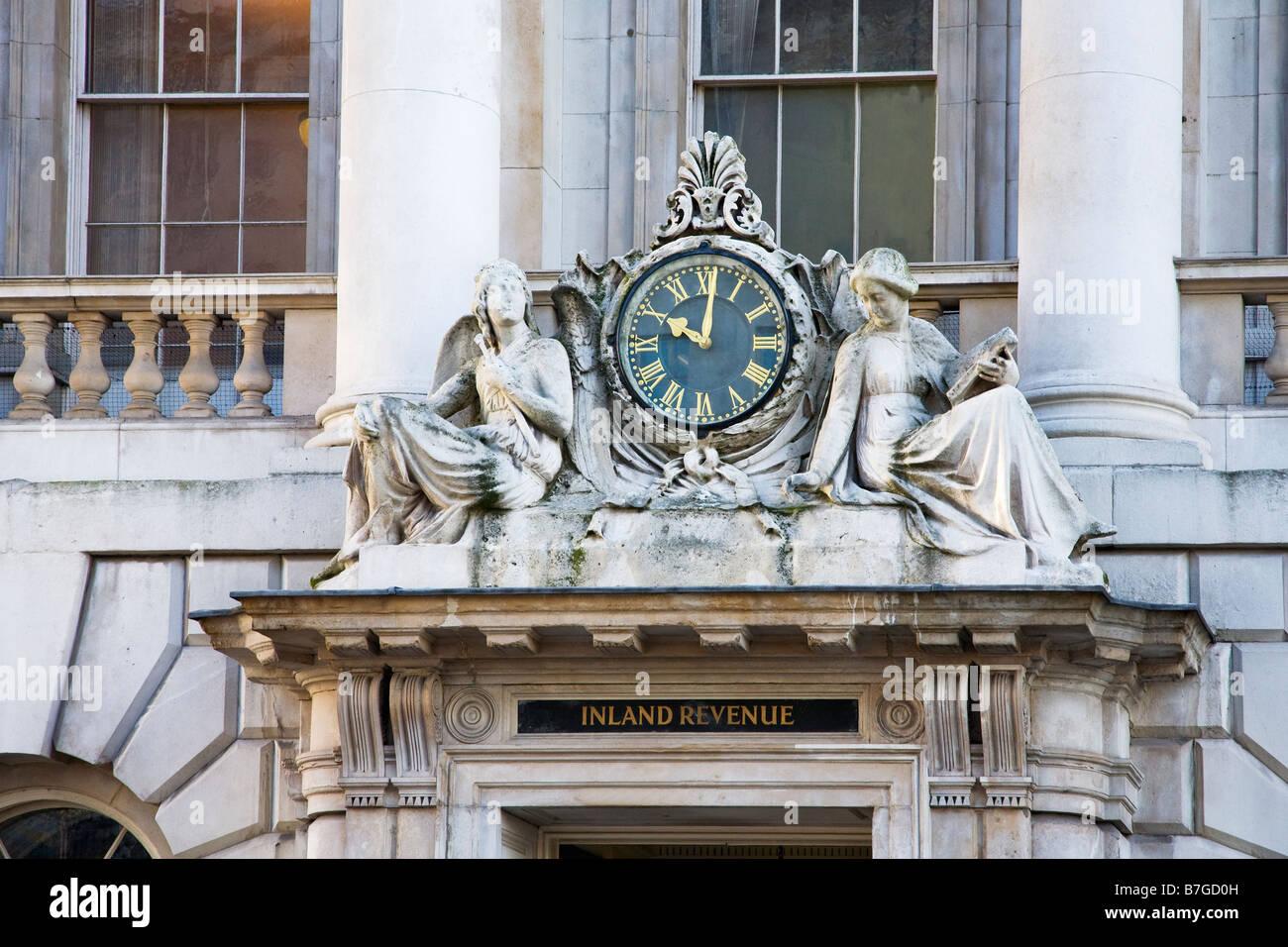 Inland Revenue Office exterior Somerset House London England UK United Kingdom GB Great Britain British Isles Europe - Stock Image