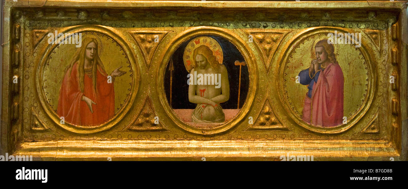 """Man of Sorrows with Saints"" by Fra Angelico circa 1422 Courtauld Institute Galleries London England UK United Kingdom Stock Photo"