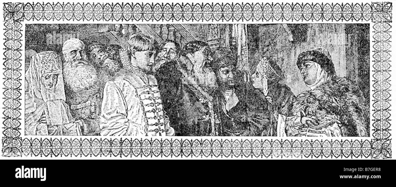 Peter III Meets Catherine Stock Photo
