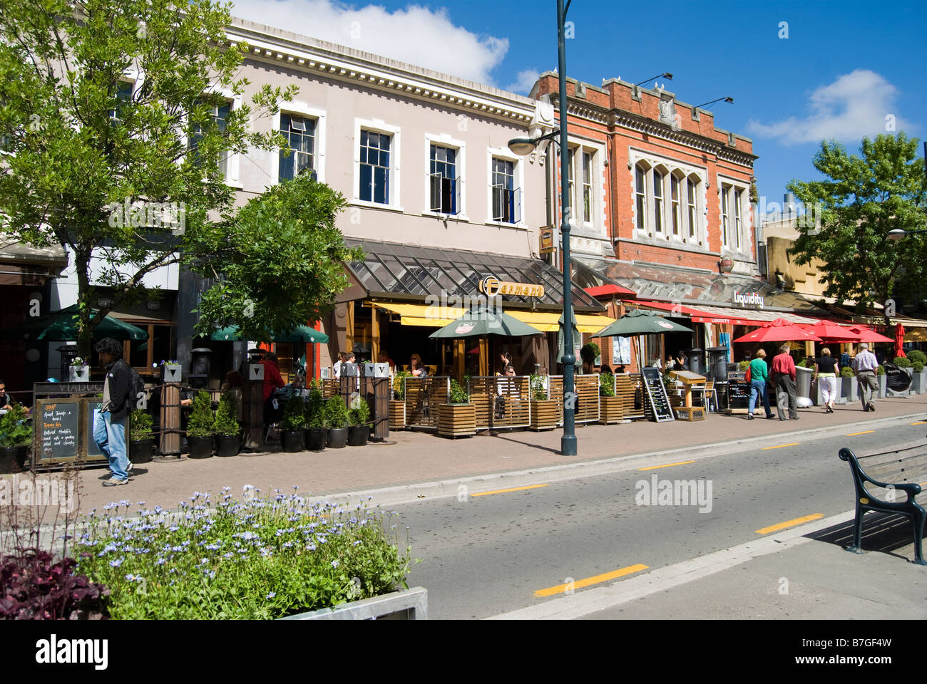 The Terrace Bars And Restaurants Oxford Terrace Christchurch Stock Photo Alamy