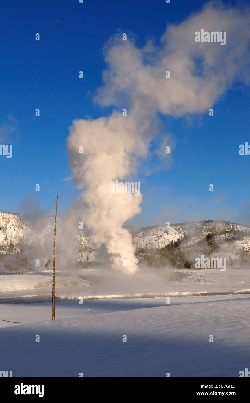 Steam vent. The Yellowstone National Park, Wyoming, USA. - Stock Image