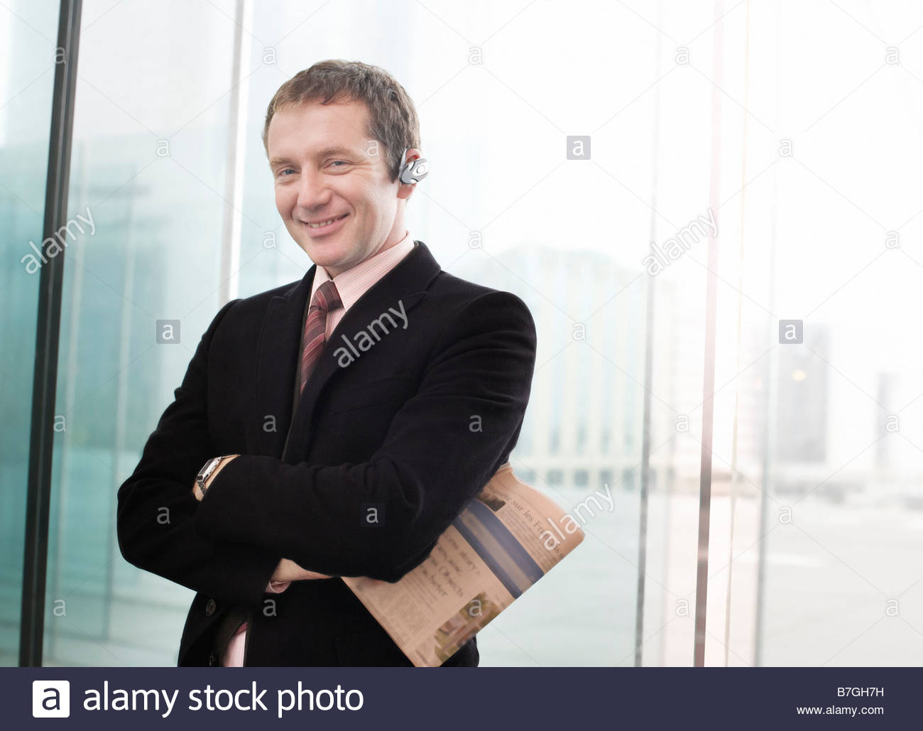 40-45 Years,40s,Adults Only,Business,Business Attire,Businessmen,Caucasian Ethnicity,City Life,Color - Stock Image
