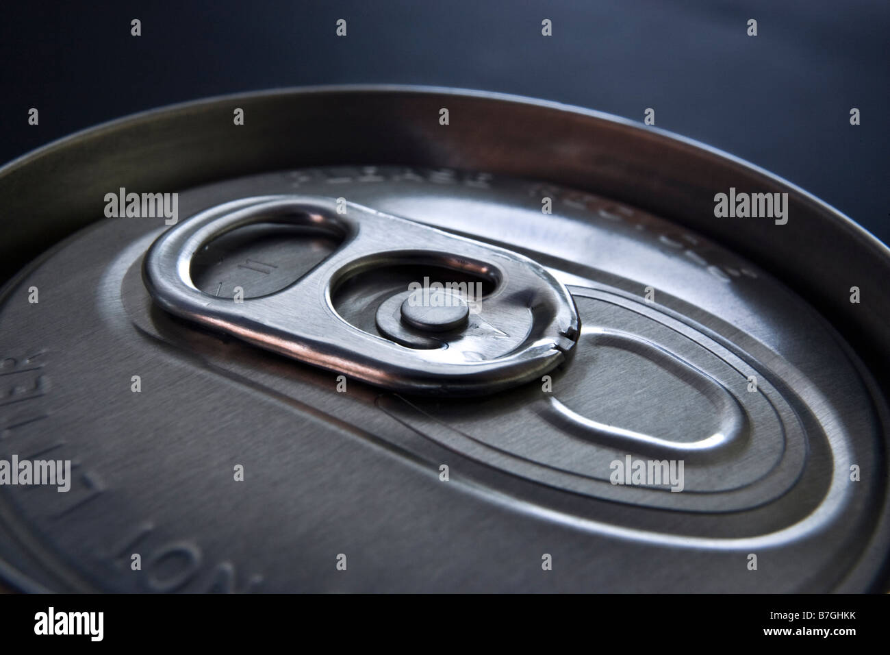 Ring pull on a drink can - Stock Image
