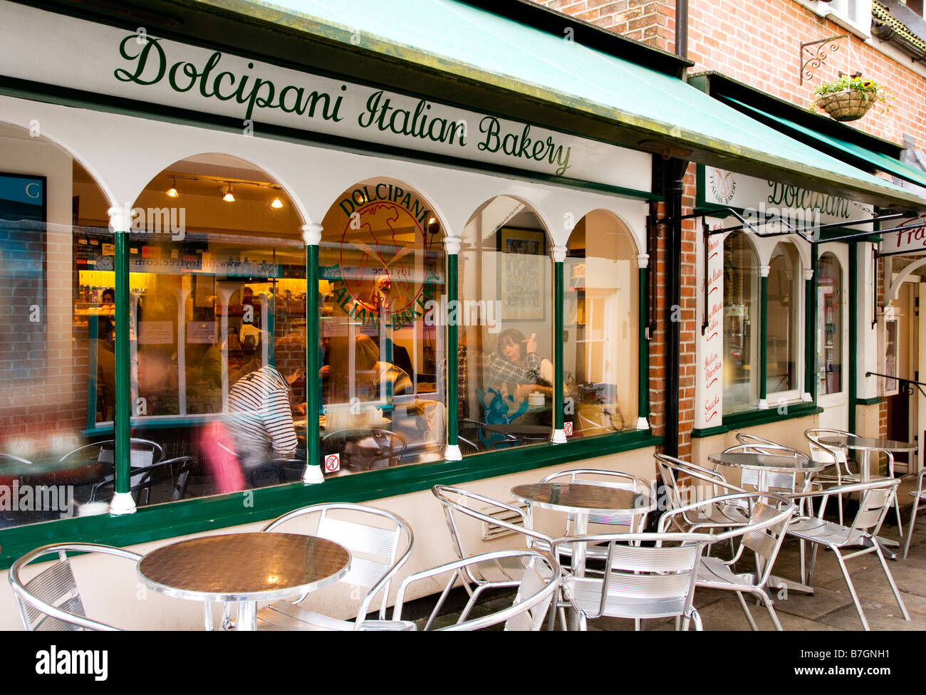 English In Italian: An Italian Bakery And Cafe In Old Swan Yard In The Typical