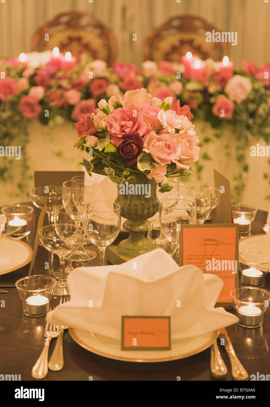 Setting for the Wedding Table - Stock Image