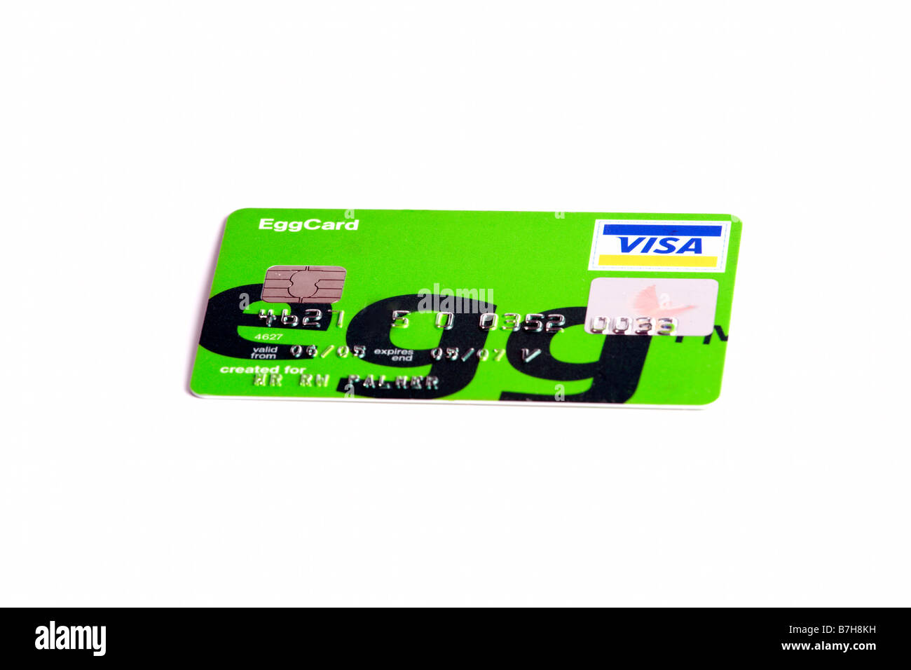 Egg Credit card Stock Photo