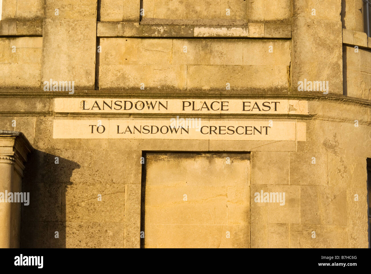 Lansdown place East road name, Bath - Stock Image