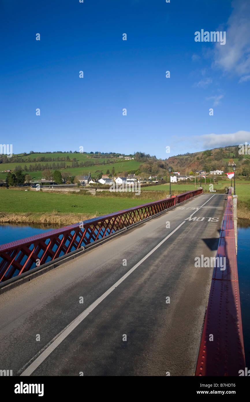 Girder Bridge Over the Blackwater River, Ballyduff, County Waterford, Ireland Stock Photo