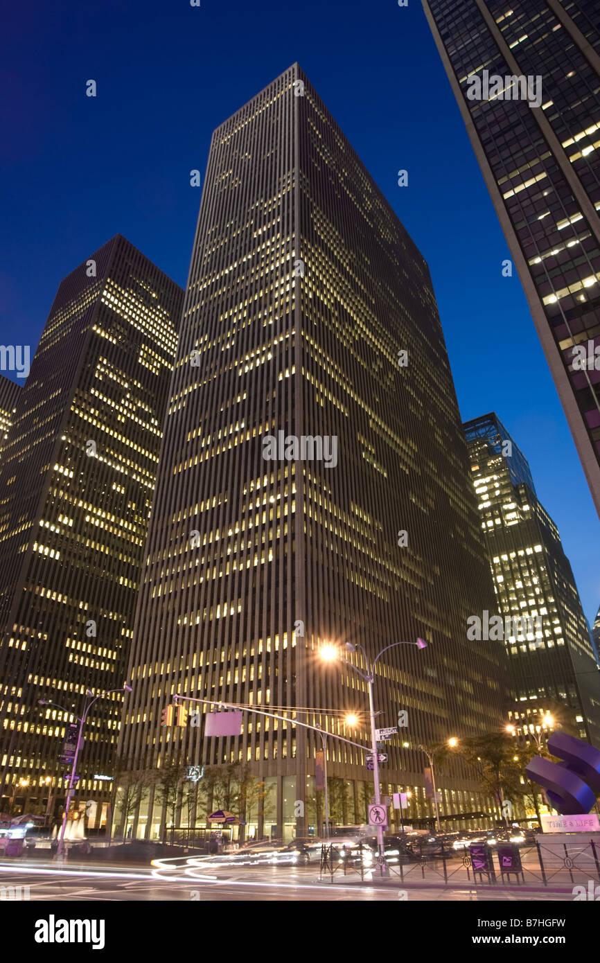 Exxon Building in Manhattan - Stock Image