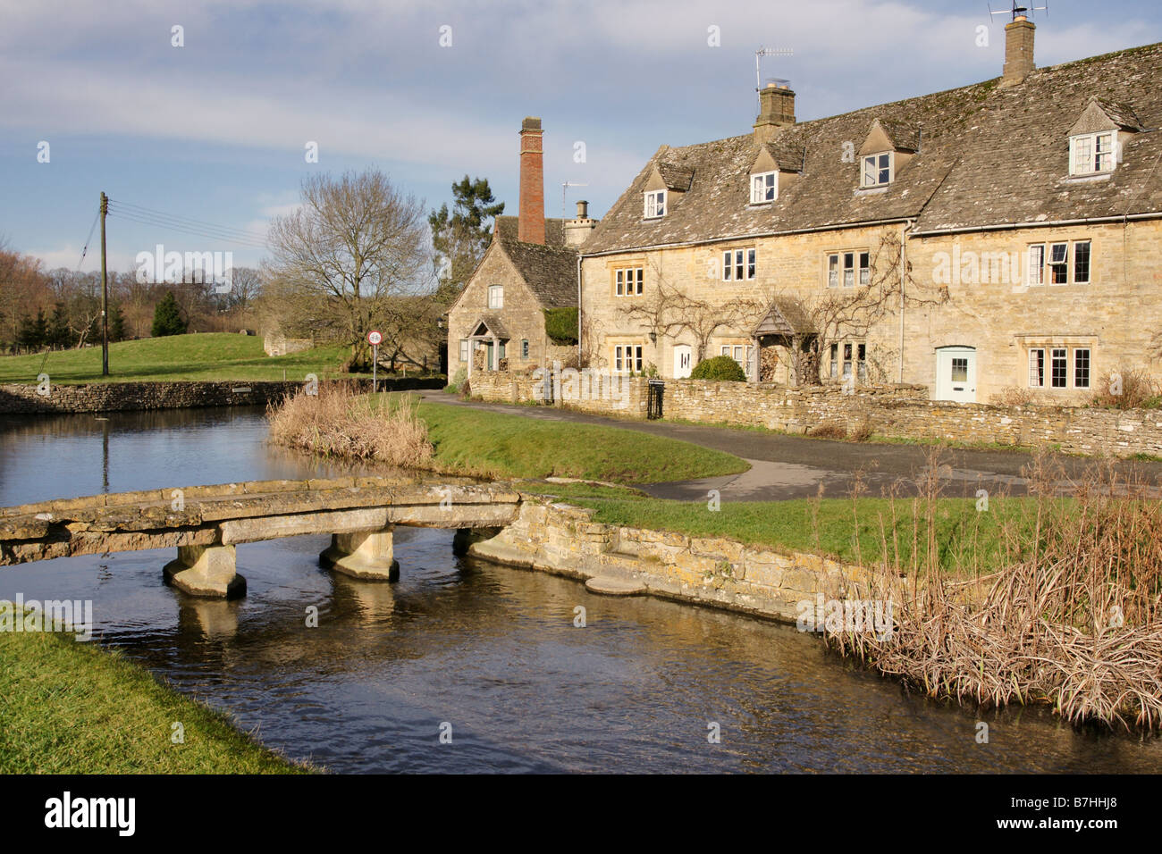 Lower Slaughter Gloucestershire England - Stock Image