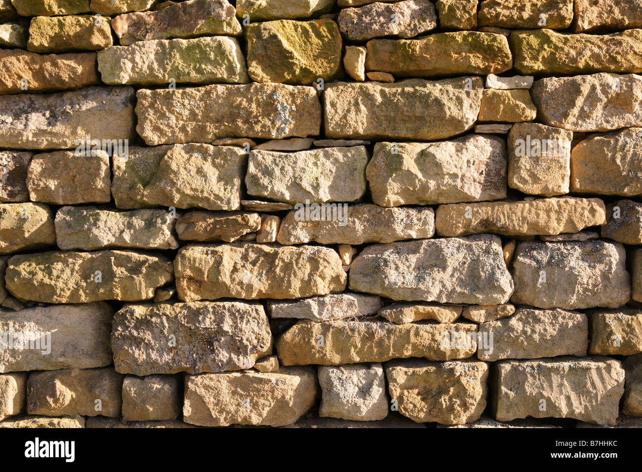Stone Wall Stanway Glocestershire - Stock Image
