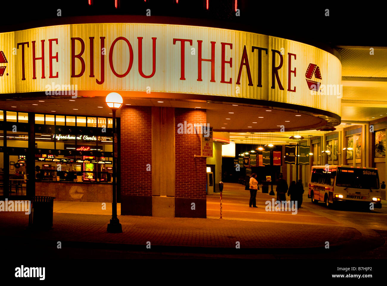 The Bijou Theatre on Broad Street in downtown Chattanooga Tennessee - Stock Image