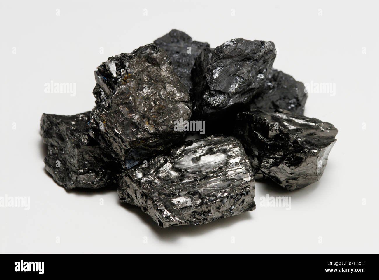Pile of anthracite coal - Stock Image