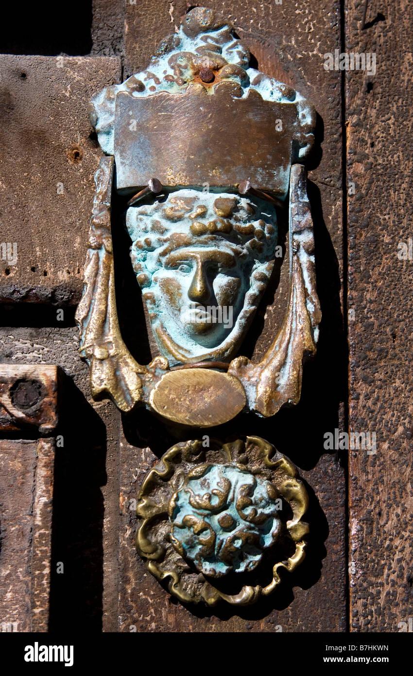 A door knocker in San Miguel de Allende, Mexico. - Stock Image