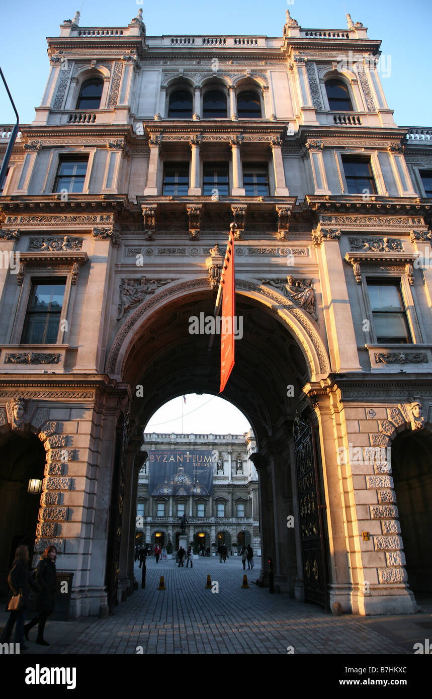The Royal Academy of Arts Picadilly London - Stock Image