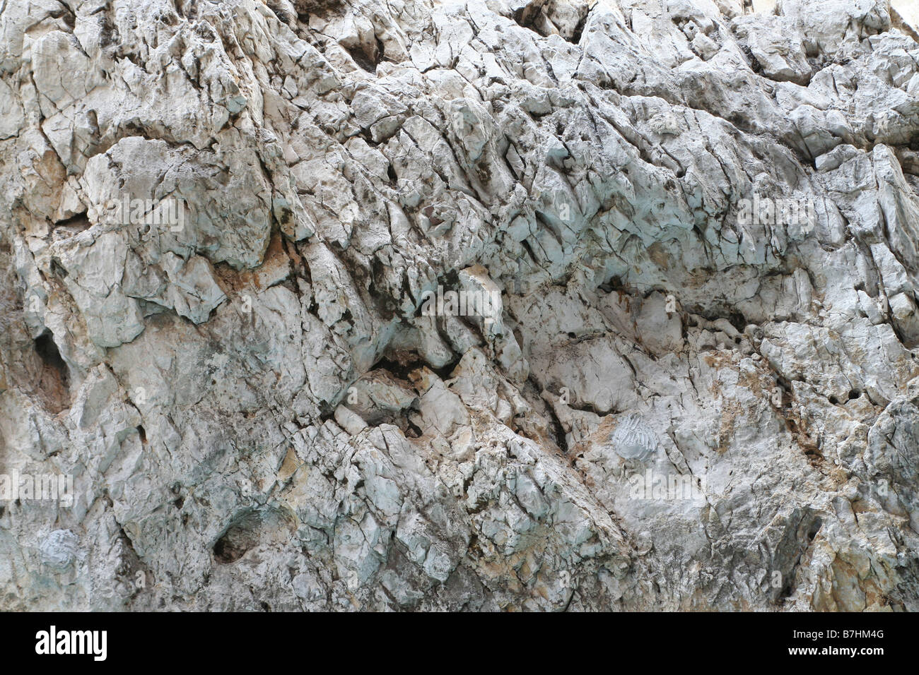 Wall of rock background Stock Photo