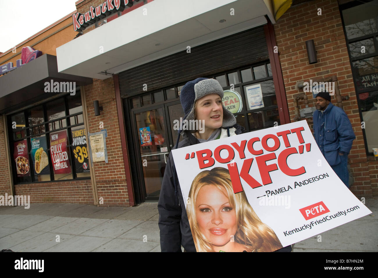 Animal Rights Activists Call for Boycott of KFC - Stock Image