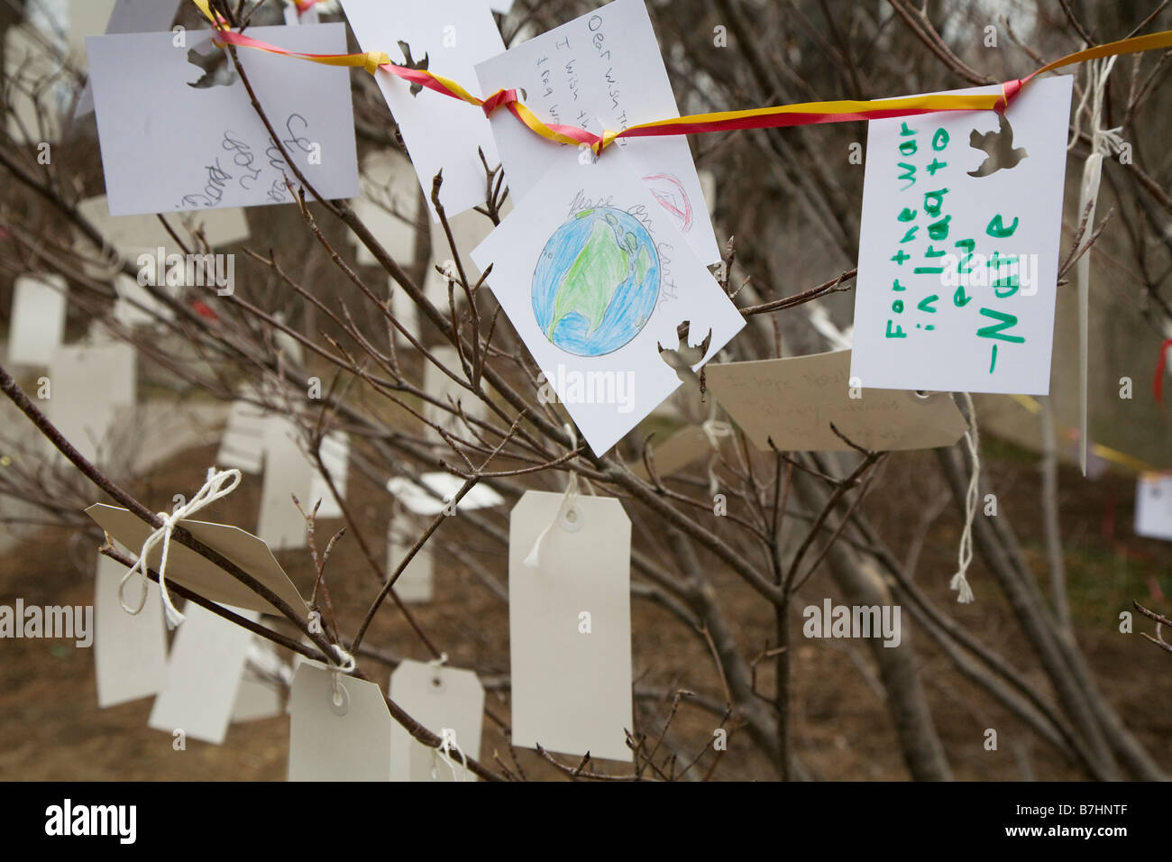 Wishes for the future left by people visiting Washington for the presidential inauguration of Barack Obama - Stock Image