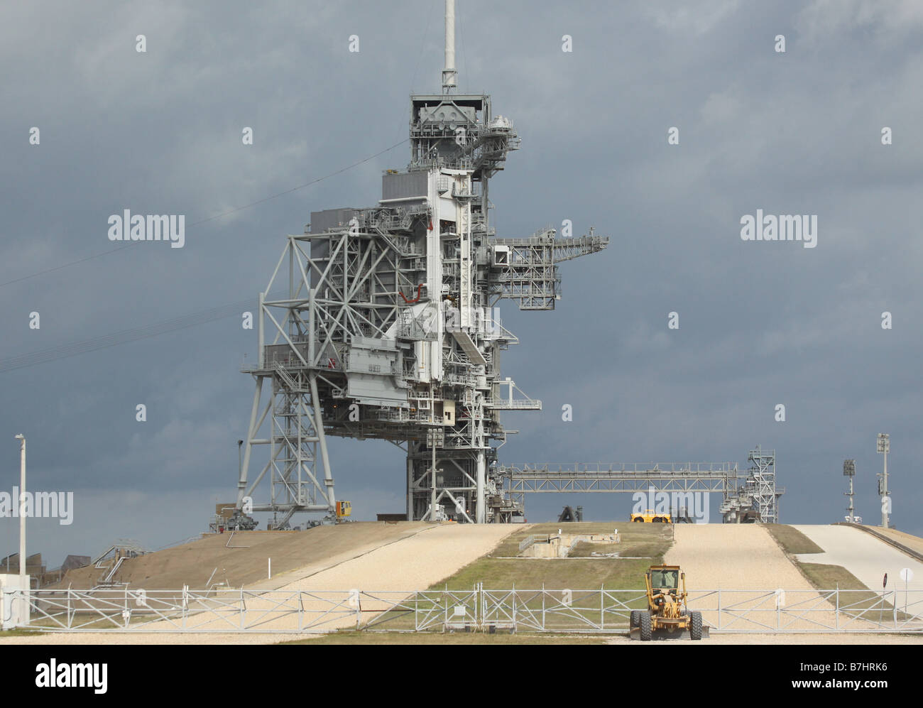 NASA Launch Pad 39B Kennedy Space Center Cape Canaveral road - Stock Image